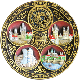 Hand painted hanging 3D Polyresin Ceramic Wall Plate 200 mm PT