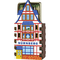 Plywood matchbox house souvenir fridge magnets with contour cutting and digital printing Nuremberg house