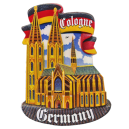 Souvenir printed polymagnet (PP) Cologne Cathedral