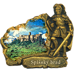 Printed and hand-painted polymagnet Knight (PP) Slovakia Spiš Castle